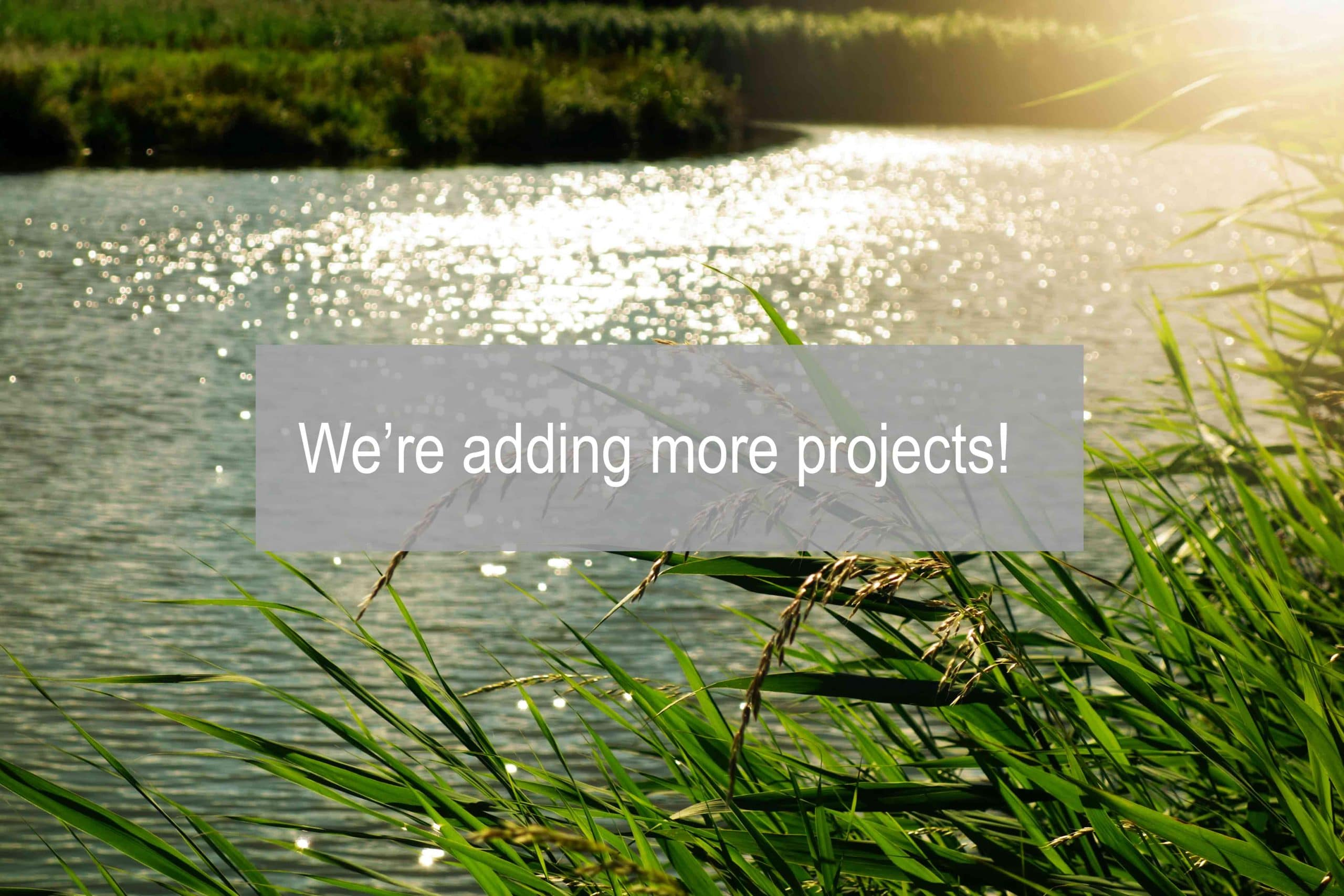 We're adding more projects!