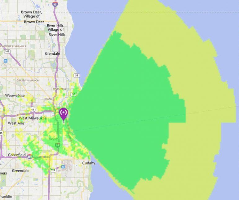 Milwaukee Wireless Sensor Coverage Map